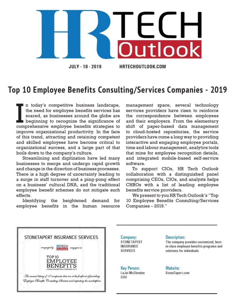 Top 10 Employee Benefits Consulting Services Companies 2019